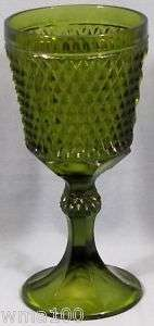 Indiana Glass Diamond Point Large Green Candy Dish