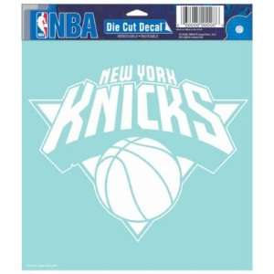 NEW YORK KNICKS OFFICIAL LOGO 8x8 CLEAR DIE CUT DECAL
