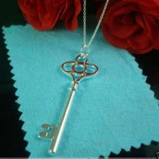 wholesale fashion beautiful key Silver necklace N14
