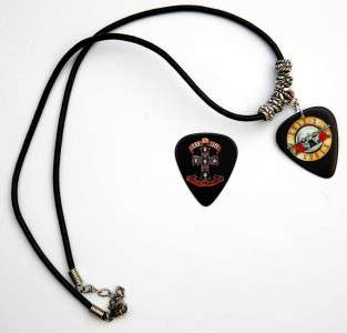 Guns n Roses Black Leather Necklace + Matching Pick