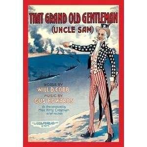 Vintage Art Grand Old Gentleman (Uncle Sam)   01338 9