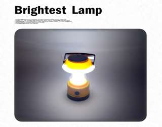 Solar panel Lantern Camping LED Light Lamp Brightest
