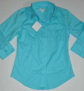 LADY HATHAWAY Top Shirt 3/4 Sleeve S XL button NO IRON