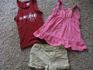 HUGE 55 pc Lot GIRLS SUMMER Clothes GAP Tee SKIRTS 4t 4