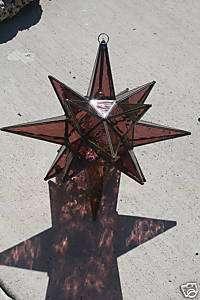 Moravian 24 Light purple Glass Star light / lamp