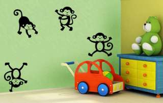 MONKEYS VINYL WALL DECAL nursery kids room
