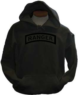 Ranger blk US Army Military Forces New Airborne Hoodie