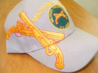 ARMY MP MILITARY POLICE CROSSED PISTOLS khaki HAT CAP