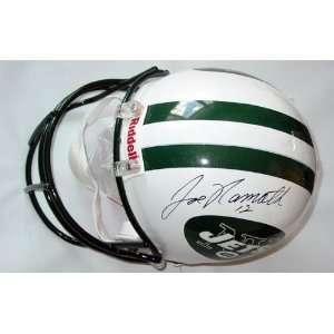 Autographed Signed Jets Helmet &Video Proof PSA/DNA