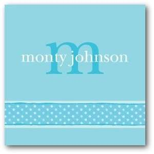 Custom Gift Tag Stickers   Initial Moments Sky By Studio