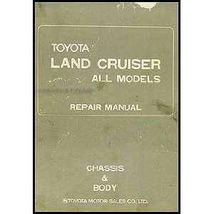 Cruiser Chassis Repair Shop Manual Original No. 98077 1 Toyota Books
