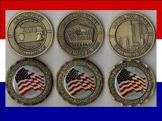 September 911 Lot of (3) Military Challenge Coin   v3