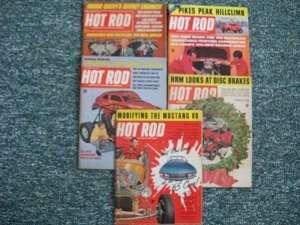 LOT #53. 5 HOT ROD MAGAZINES. 1964   1967 ASSORTED