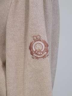St. John Sport santana knit zip front cardigan sweater tan monogram