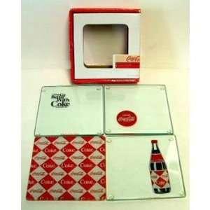 Coke Retro Glass Coaster Set Case Pack 6   349905  Kitchen