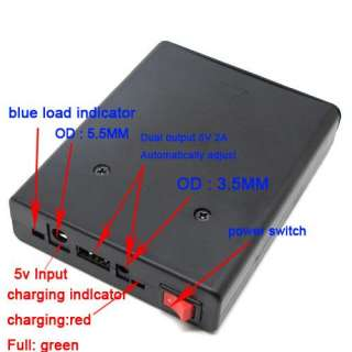 2A Output 5V Mobile Power USB Battery Charger 18650 Box