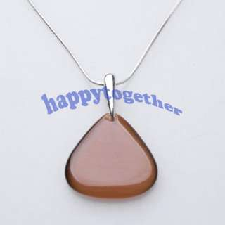 Fashion Beautiful Triangle Shape Cats eye Necklace J0119