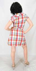 NO HICKS HERE Club Indie WESTERN Plaid SEXY LITTLE Country Girl MINI