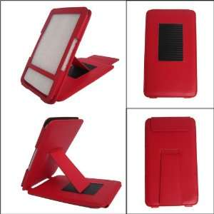 iGADGET RED Leather Case/Cover With Adjustable Stand For
