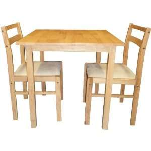 Dining Room Set (Table + 2 Chairs) Beech Color Arena