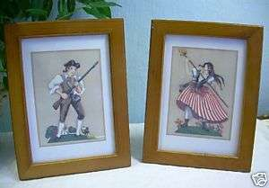 MARGO ALEXANDER 2 Americana Colonial ART FRAMED prints lovely