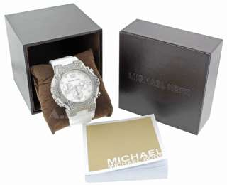 MICHAEL KORS MK5509 DESIGNER WOMENS SILVER/WHITE CHRONOGRAPH WATCH W