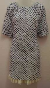 Marc by Marc Jacobs Blue and White Print Dress   L