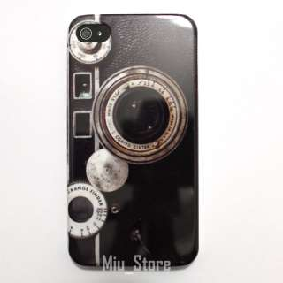 Retro Camera Apple iphone 4 4S 4G Hard Plastic Case Cover Skin