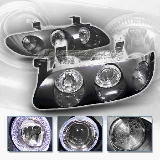 Mazda MX6 Headlights JDM Black Dual Halo Headlights 1993