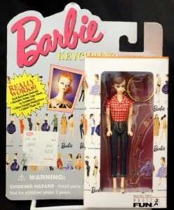 Barbie Keychain Picnic Cowgirl Model 1995 NIP Brown Hair