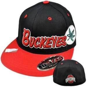 NCAA Ohio State Buckeyes Top of World Flat Bill Black Red