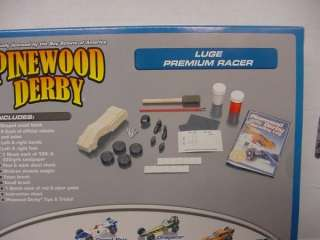 REVELL PINEWOOD DERBY LUGE RACER WOOD MODEL KIT BOY SCOUTS NEW