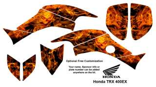 Honda TRX 400EX ATV Graphics Kit Flaming Skull 9001N