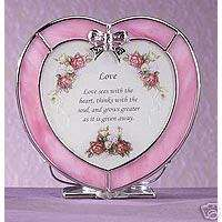 Love Heart Tea Light Candle Holder with Verse NIB