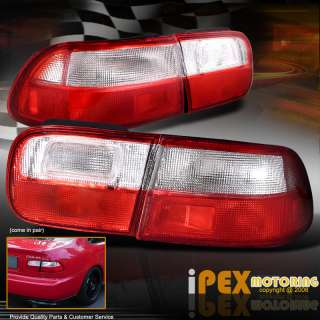 HONDA CIVIC EG COUPE/SEDAN JDM RED/WHITE TAIL LIGHTS