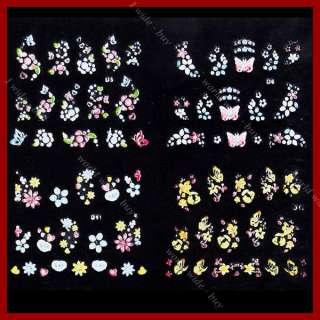 30x 3D Design Nail Art Sticker Tip Decal Manicure DIY Decorations #329