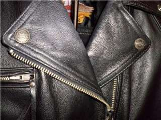 Harley Davidson Heavy Duty Leather Jacket Conchos Fringe S/M