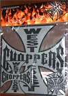 West Coast Choppers, Jesse James Maltese Cross Stickers   Set of 5 in