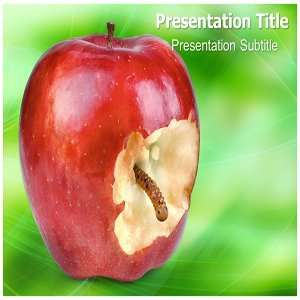 Worm PowerPoint Template   Background PowerPoint Templates