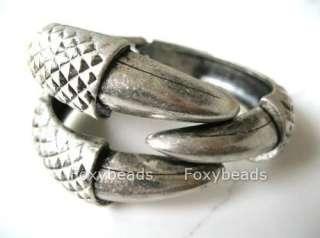 Vintage Eagle Bird Claw 3 Talon Ring/Bangle Bracelet Clamp Cuff Gothic