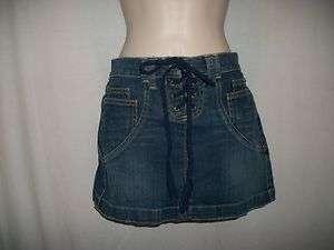 Juniors Micro Mini Skirt by Glo Size 3 Blue Jean Super Cute Skirt
