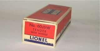 High Quality Lionel # 2037 Postwar O27 Steam Locomotive & 6026W