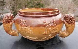 Antique Doulton Lambeth Type Stoneware 1860s Bowl