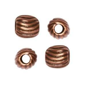Antiqued Copper Plated Round Spacer Beads Spirals 5.5mm (2