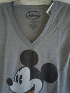 Womens MICKEY MOUSE Retro Look License T Shirt Tee NWT