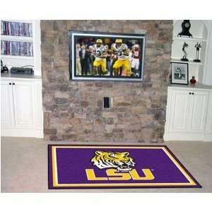 Louisiana State Fightin Tigers NCAA Floor Rug (4x6) LSU Logo