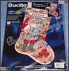 Bucilla SANTA CLASSIC Counted Cross Stitch Christmas Stocking Kit  L