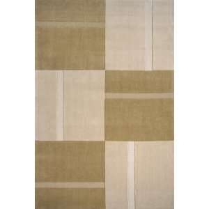 Metro Collection Beige Hand Loomed Wool Area Rug 2.30 x 3