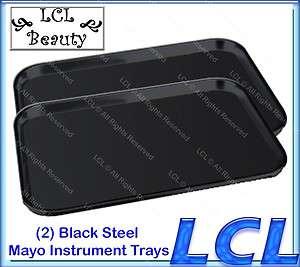 21 1/2 x 15 3/4 x 1 BLACK STEEL MAYO TRAY BEAUTY SALON EQUIPMENT