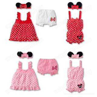 Kids Children Girl Baby Dress+ Headband+Pants Set Costume Clothing 0